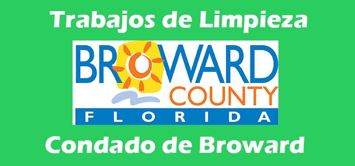 trabajos de limpieza condado broward